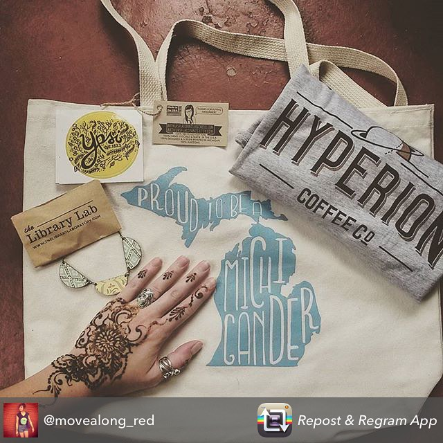 @movealong_red 's photo of her @diypsi swag from @sherrinicole , @hyperioncoffeeco & loving her henna design ️ #henna #diypsi #swag #festival #ypsi #ypsilanti #tattoos #kellycaroline #tattoo #michigan