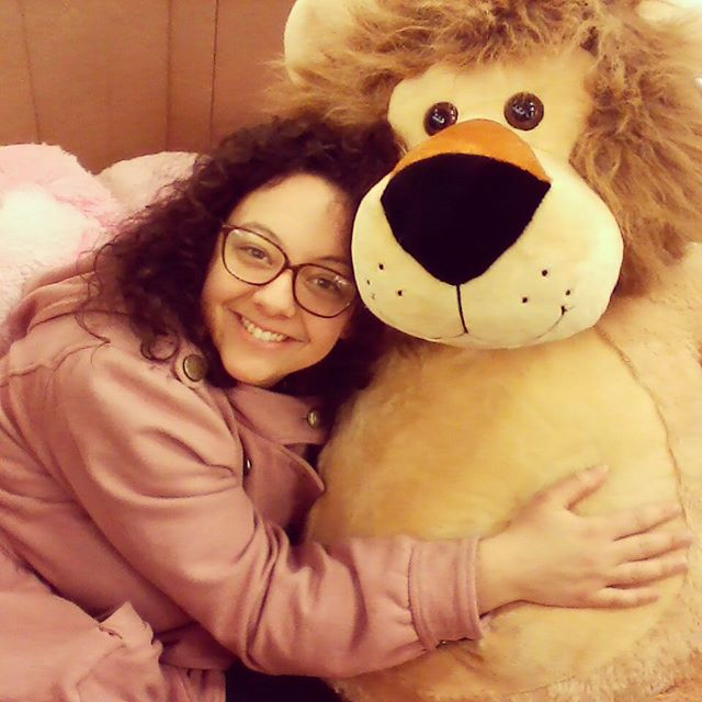 Lions are for lovers  #stuffedanimal #lion #hug