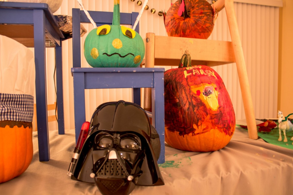 Darth Vader Pumpking painting ideas