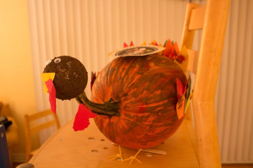 Turkey pumpkin painting ideas