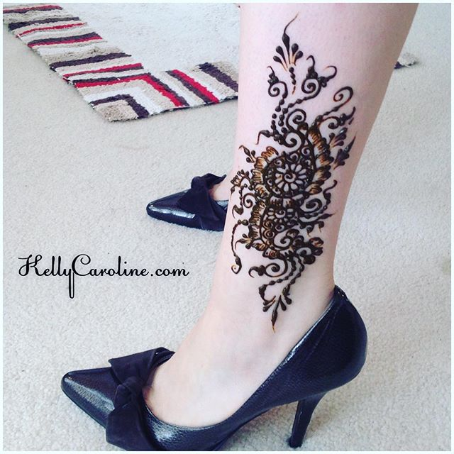 Feet And Leg Henna Designs Kelly Caroline
