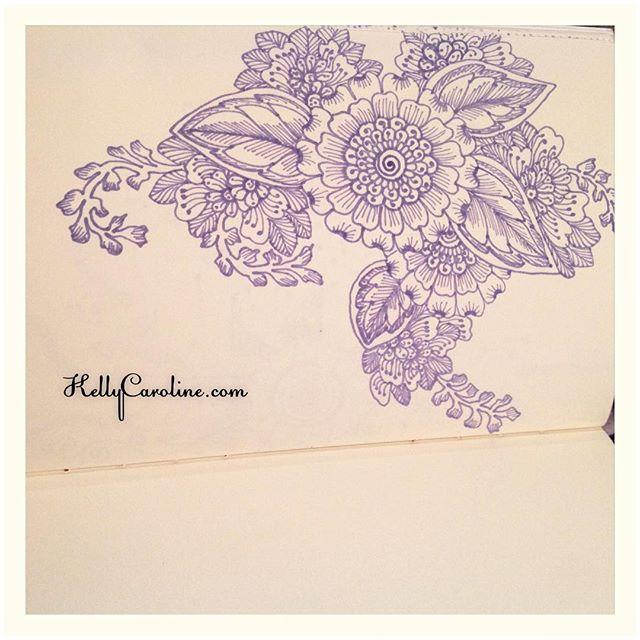 A new drawing in my notebook today with my big and little flowers sprawled throughout #henna #hennas #ypsi #ypsilanti #michigan #michiganartist #kellycaroline #mehndi #mehndidesign #tattoo #tattoos #tattoodesign #draw #drawing #sketch #sketchbook #art #artist #flower #flowers #ink #pen #paper #leaves #shading #purple #sharpie #yoga #yogi #vines
