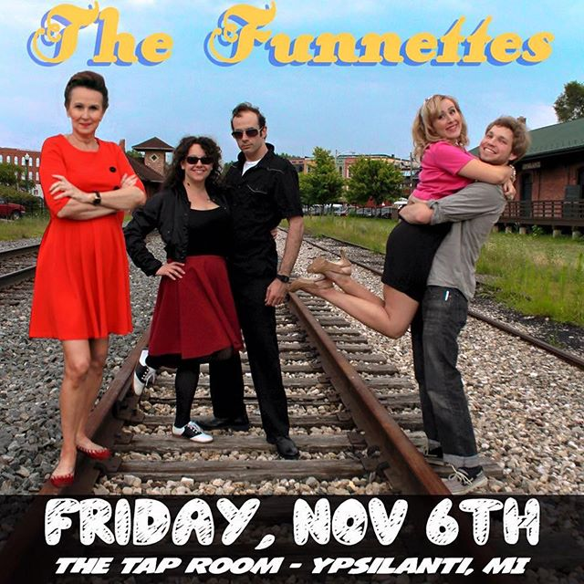 TONIGHT  Did you know aside from doing henna, I play drums in a rockabilly band? The Funnettes are playing tonight along with Las Drogas and @drumpop and Rob Roy for @firstfridaysypsi check it out ! a FREE SHOW  @shalisabird