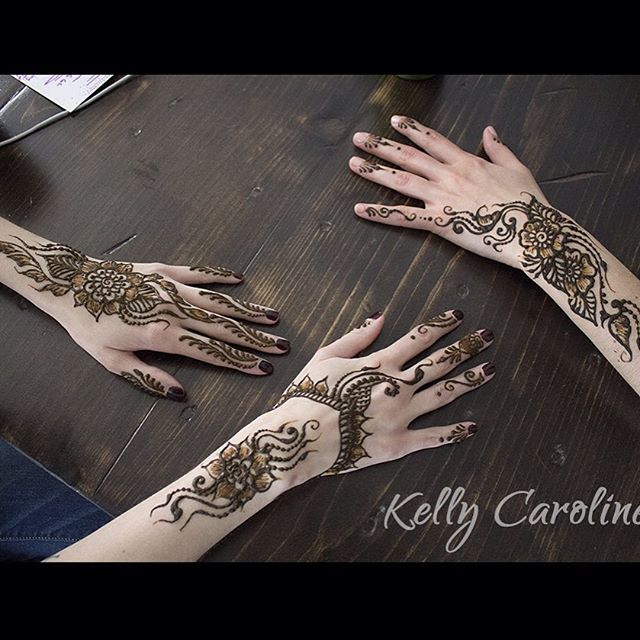 Henna design for our amazing brides @kate_and_corley & @lyzz_hope for