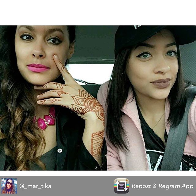 Henna repost from a duo of sisters who came to the studio to get their henna on for the @badgalriri Rihanna concert thanks for another great pic @_mar_tika