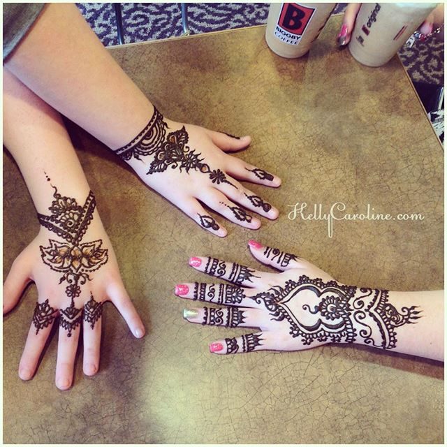 Henna today for @ruby.tho @bby.angelina_ & @ooawesomeoo Classy, hand henna designs in Canton