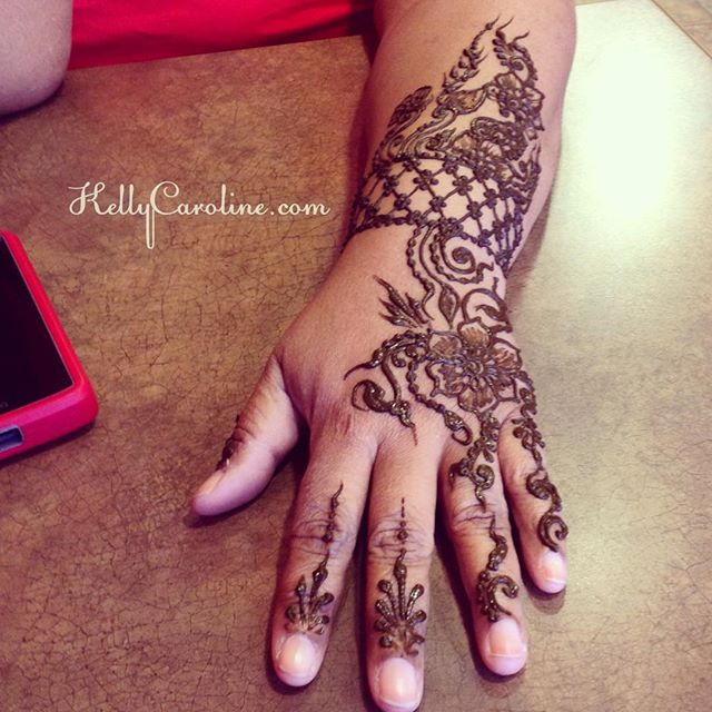 Henna for a birthday girl today! hand henna design – private appointments available Monday-Saturday 2-5:30pm call 734-536-1705 or email kelly@kellycaroline.com