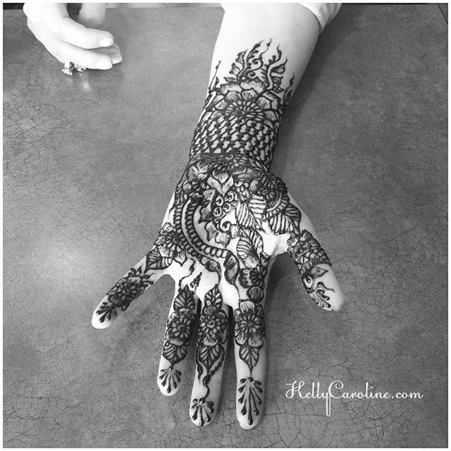 Henna hand design trial for a bride having a West Michigan wedding . . . private appointments available Monday-Saturday 2-5:30pm call 734-536-1705 or email kelly@kellycaroline.com