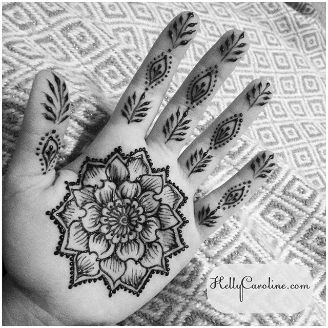 My latest henna design on my palm – getting ready for our road trip this weekend @inspirationalhenna – private appointments available Monday-Saturday 2-5:30pm call 734-536-1705 or email kelly@kellycaroline.com