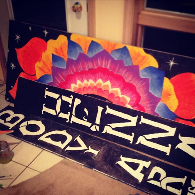 A sneak peek at our newest display for @electric_forest – just a hint of the magic