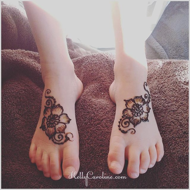 Henna for our littlest guest at the Mehndi Party today in Troy, MI we were the artists for – . . . private appointments available Monday-Saturday 2-5:30pm call 734-536-1705 or email kelly@kellycaroline.com