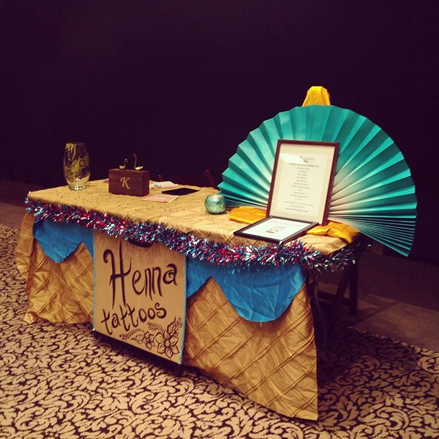 My henna display at yesterday's Sisterhood Boutique in West Bloomfield . . .