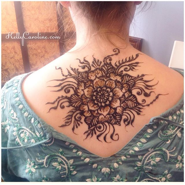 One of my favorite henna designs lately – she for this design for her prom this Friday – her dress is a sari with an open back  . . private appointments available Monday-Saturday 2-5:30pm call 734-536-1705 or email kelly@kellycaroline.com