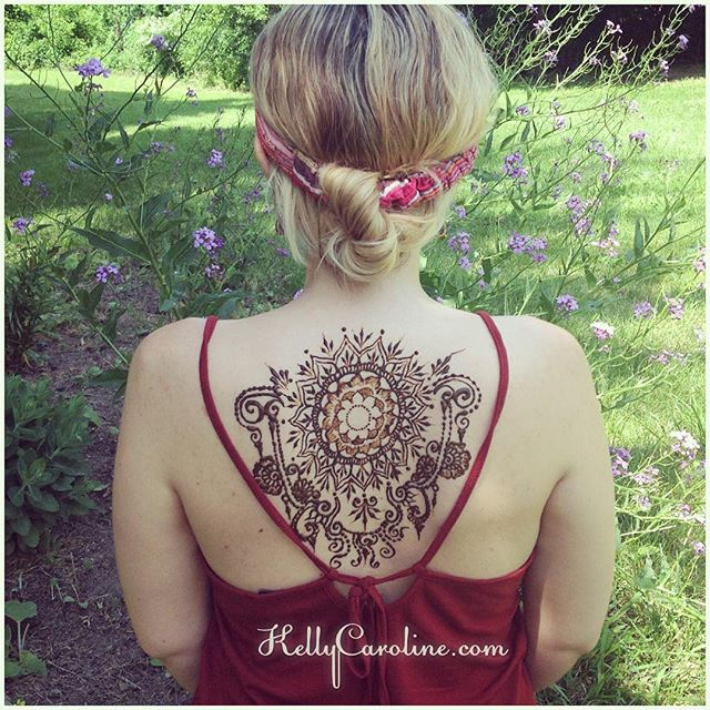 "HENNA BY KELLY CAROLINE Only 10 DAYS UNTIL ELECTRIC FOREST! @shalisabird our booth babe & I are so excited we did this henna design today! Just one of the many pieces you can get at our booth!. Piece Inspired by @hennalounge . . . We are thrilled to be joining @electric_forest this year doing henna body artwork for all of you there! That is for me! . . Look for our RAINBOW MANDALA sign! Come see us to get your henna ️. Mention ""dragon tattoo"" for $5 off your design . ."