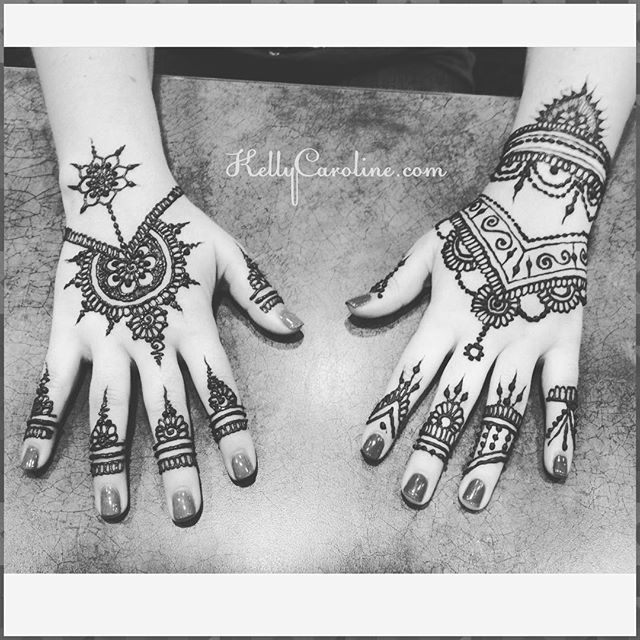 Henna for a prom this Saturday- i love the two designs she chose – very complimentary of each other . . Also! Less than 25 DAYS UNTIL @electric_forest !! See you all there for your henna! . . . private appointments available Monday-Saturday 2-5:30pm call 734-536-1705 or email kelly@kellycaroline.com