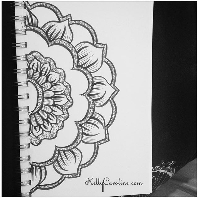A new mandala henna design from my sketchbook last night