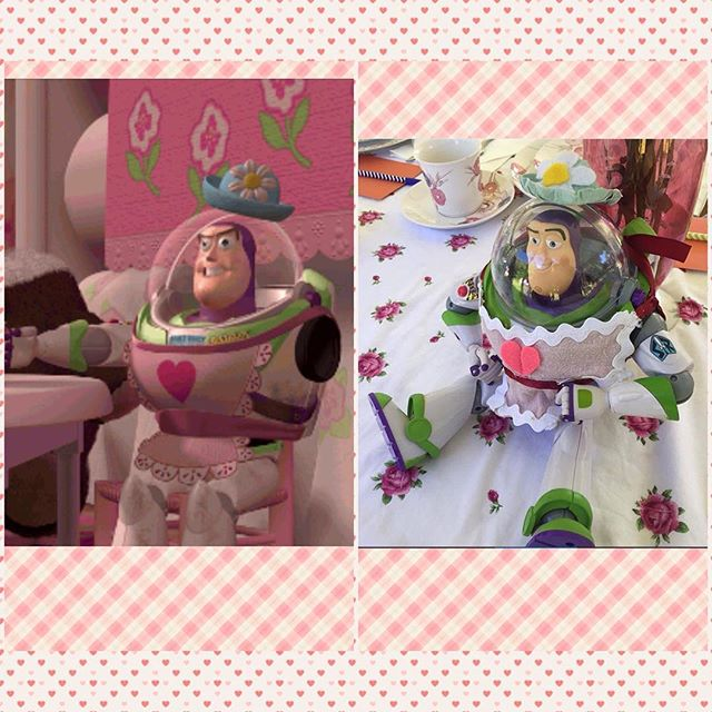 For @shalisabird 's bridal shower #disney tea party I made Mrs. Nesbitt from #toystory - hope you get it and enjoy  . . Pic by @missyeffinfaye . . #craft #diy #teaparty #fancy #buzzlightyear #pixar #girly #wedding