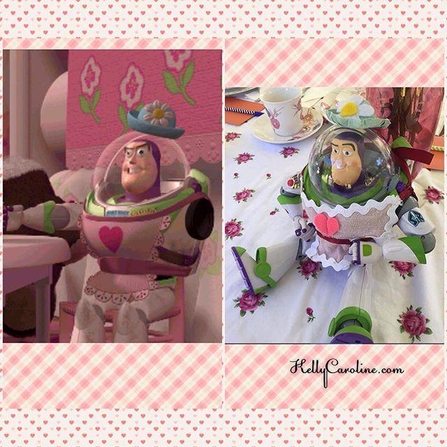 For @shalisabird 's bridal shower #disney tea party I made Mrs. Nesbitt from #toystory - hope you get it and enjoy  #craft #diy #teaparty #fancy #buzzlightyear #pixar #girly #wedding