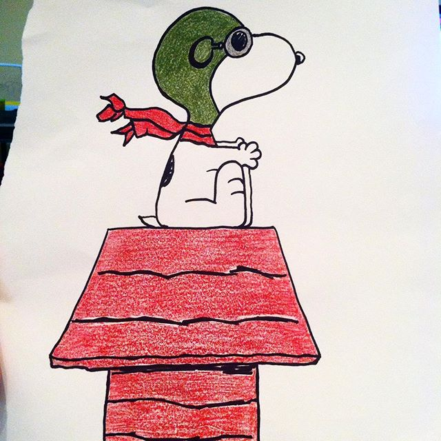 I drew this Flying Ace Snoopy for my son for Halloween today with erasable colored pencils #coloredpencils #drawing #draw #charliebrown #halloween #snoopy #woodstock #peanuts #cartoon #ypsilanti #ypsil #kellycaroline #sketch_daily #artstagram #instartlovers #art_spotlight #justartspiration #arts_help #art_worldly #flyingace #sketch #sketchbook @peanutsmovie @snoopygrams