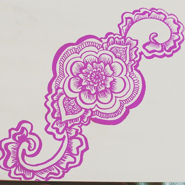 A little pink henna doodle from my sketchbook last night