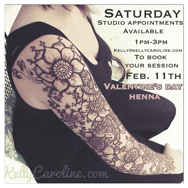 Book your VALENTINE'S DAY session today- only a few appointments remaining for this Saturday February 11th kelly@kellycaroline.com. . . #henna #hennatattoo #valentines #valentinesday #ypsilanti #ypsi #ypsireal #michigan #hennamichigan #howell #brighton #saline #kellycaroline #ferndale #wyandotte #plymouth #detroit #annarbor