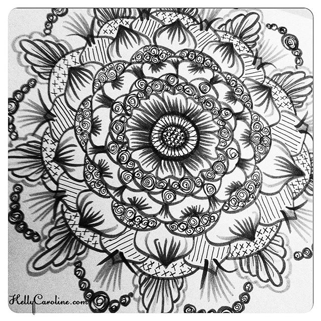 First drawing in a while- life has been busy, but in a positive way. #tattoodesign #henna #hennas #ypsi #ypsilanti #detroit #michigan #michiganartist #kellycaroline #mehndi #mehndidesign #tattoo #tattoos #tattoodesigns #drawing #mandala #flower #flowers #ink #yoga #yogi #sketch_daily #artstagram #instartlovers #art_spotlight #justartspiration #arts_help #art_worldly #blxckmandalas