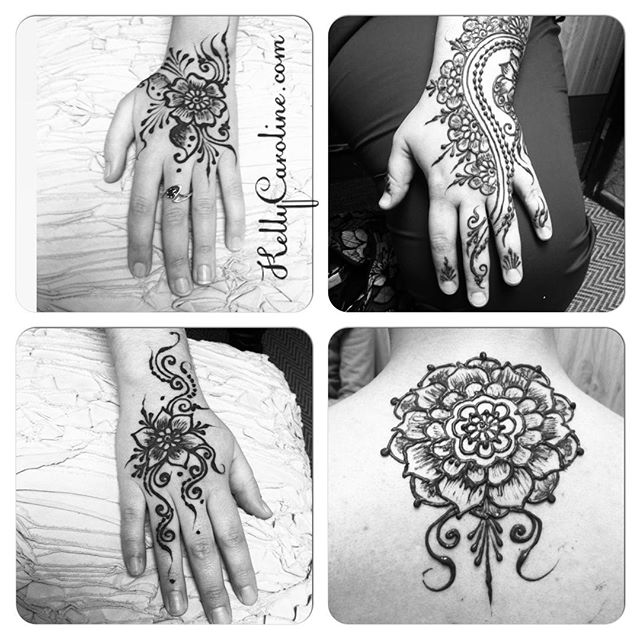 Recent henna designs at the studio – some birthday party love for a birthday girl, too! 5 great ladies for a celebration at the studio today. Grab a friend and come into the studio this week . . private appointments available Monday-Saturday 2-6:30pm call 734-536-1705 or email kelly@kellycaroline.com