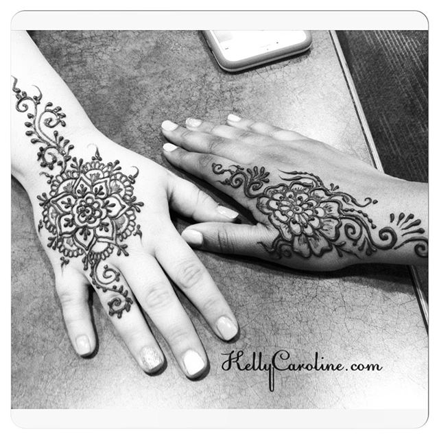Two fun hand designs today. Grab a friend and come into the studio this week . . private appointments available Monday-Saturday 2-6:30pm call 734-536-1705 or email kelly@kellycaroline.com