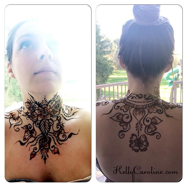 It's the best having a gorgeous friend ask you to do a bold, awesome henna design on their neck ! #henna #hennas #hennaartist #kellycaroline #michigan #michiganartist #dearborn #dearbornheights #mehndi #mehndidesign #tattoo #tattoos #ink #organic #hennadesign #hennatattoo #hennatattoos #flower #flowers #yoga #yogi #mandala #ypsi #ypsilanti #detroit #birthdayparty #canton #necktattoo #neckhenna
