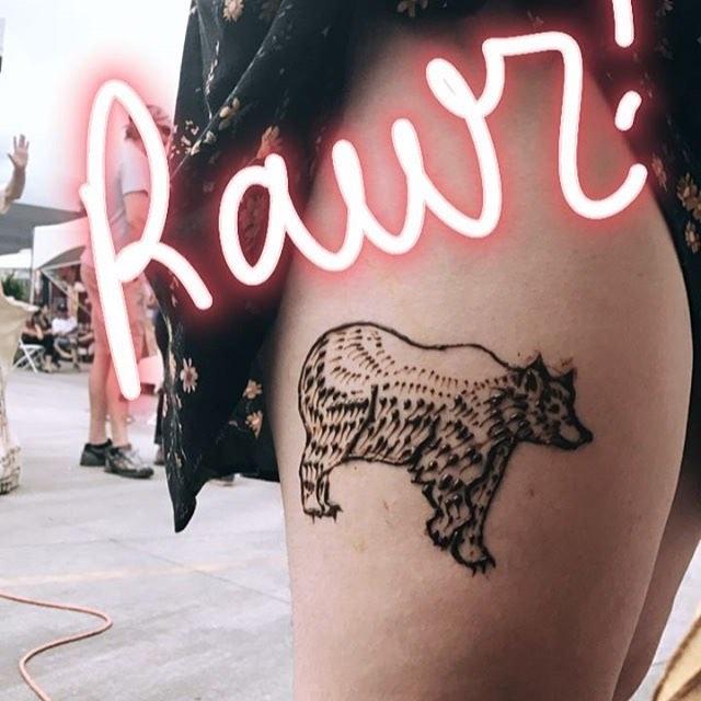 Bear henna