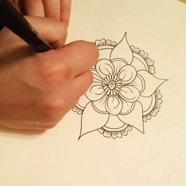 Hi there! Here's my new drawing henna design from my sketchbook last night