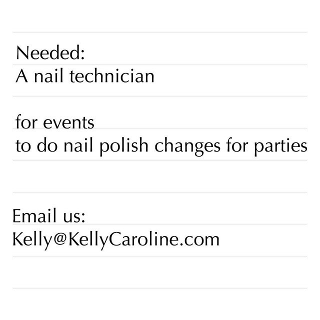 We need a nail tech on our team for events . If you know someone who loves parties and people and is a professional, tag them . This position is an independent contractor spot so you would be able to do events on an individual basis. Email kelly@kellycaroline.com for more information #nails #annarbor #ypsi #ypsilanti #detroit #michigan #nailtech #farmingtonhills #michiganart #eventplanner #canton #monroe #wyandotte