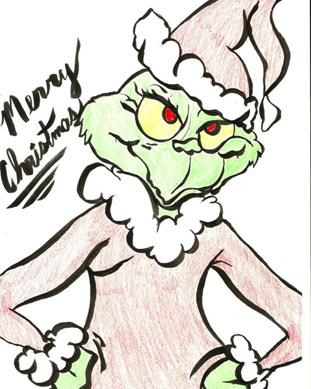 Yeah, it's crazy early for Christmas, don't be thinking that. I just love the Grinch all the time, not just Christmas. #thegrinch #drseuss #seuss #cartoon #cartoons #christmas #whoville #santa #art_worldly #arts_help #artstagram @drseussquotes01 @everythingdrseuss @dr.seuss_tumblr