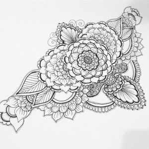 Henna style tattoo design - henna designs by Kelly Caroline , henna michigan