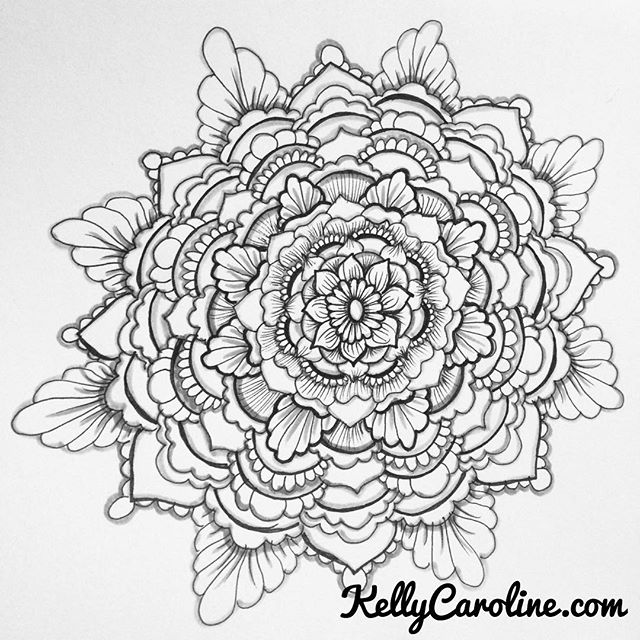 Fall makes me want to create more and more Black inked mandalas !