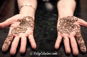 Henna on hands for wedding - Arabic style henna designs