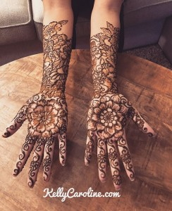 Bridal mehndi for Indian wedding - full arm henna design by Kelly Caroline , henna michigan, henna by Kelly Caroline