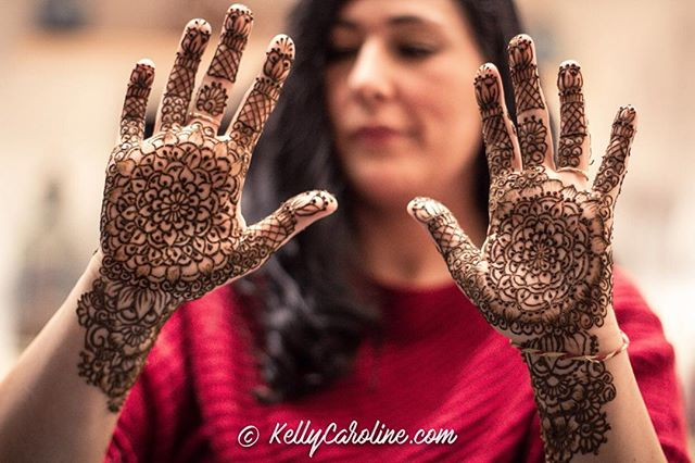 Here is the henna for a winter wedding Mehndi Party in Ann Arbor last week . Kelly@kellycaroline.com
