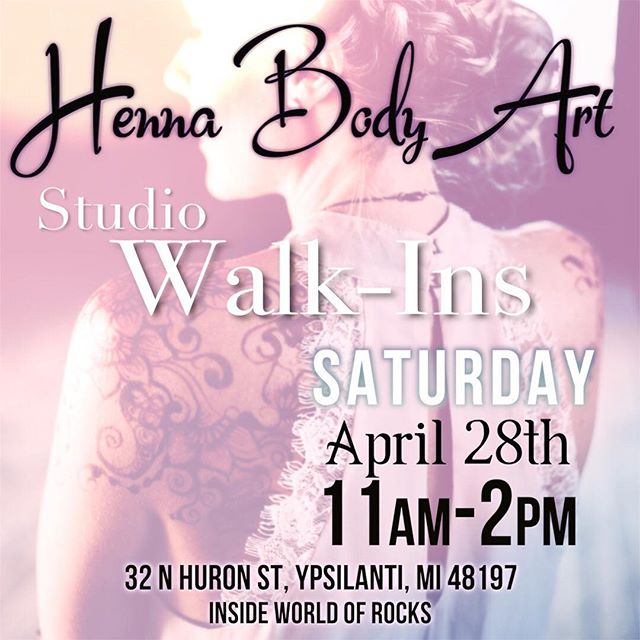 Since yesterday's Henna Pop Up shop was such a success we are doing it again this Saturday ! At @world_of_rocks_ypsi from 11-2pm @ypsireal . . #henna #hennas #ypsireal #worldofrocks #hennaartist #hennaparty #kellycaroline #michigan #michiganartist #dearborn #dearbornheights #mehndi #mehndidesign #tattoo #tattoos #ink #organic #hennadesign #hennatattoo #hennatattoos #flower #flowers #yoga #yogi #mandala #ypsi #ypsilanti #detroit