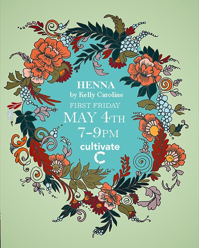 TOMORROW!! FRIDAY MAY 4th! Henna PLUS a dance party with a dj  and YOU'RE INVITED!! Join us from 7-9pm TOMORROW! Cultivate Coffee and Brewery - I am so excited to be doing henna at @cultivateypsi for @firstfridaysypsi  see you then! . . . #firstfridays #ffypsi #cultivate #cultivatecoffee #henna #hennas #hennaartist #kellycaroline #michigan #michiganartist #mehndi #mehndidesign #tattoo #tattoos #ink #organic #hennadesign #hennatattoo #hennatattoos #flower #flowers #yoga #yogi #mandala #ypsi #ypsilanti #detroit @ypsireal @ypsi_artscenter @ypsibikecoop @ypsilicious @ypsilibrary @ypsifoodcoop @ypsilanti_rockz