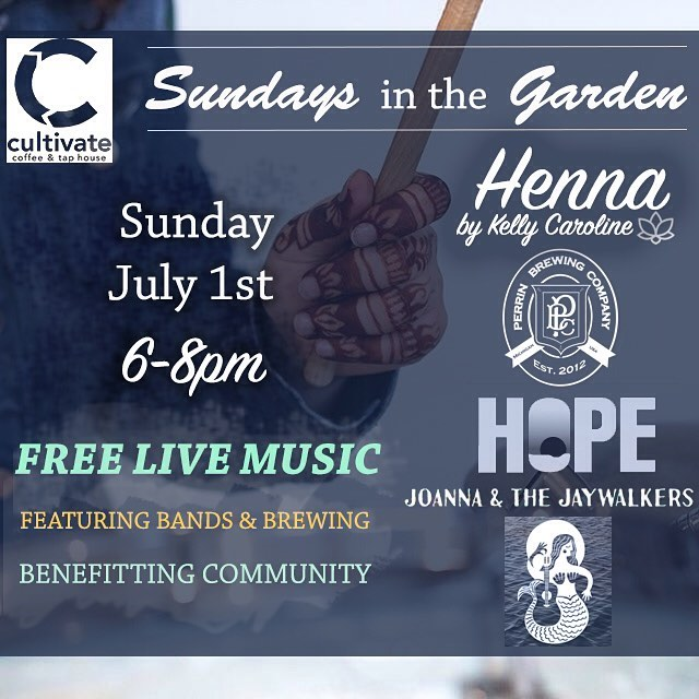 Come get henna THIS SUNDAY and listen to free music by @joandthejays & sample @perrinbrewing at @cultivateypsi !! 6-8pm . . . #cultivate #cultivatecoffee #henna #hennas #hennaartist #kellycaroline #michigan #michiganartist #mehndi #mehndidesign #annarbor #organic #hennadesign #hennatattoo #hennatattoos #flower #flowers #yoga #yogi #mandala #ypsi #ypsilanti #detroit #perrinbrewing #joannaandthejaywalkers