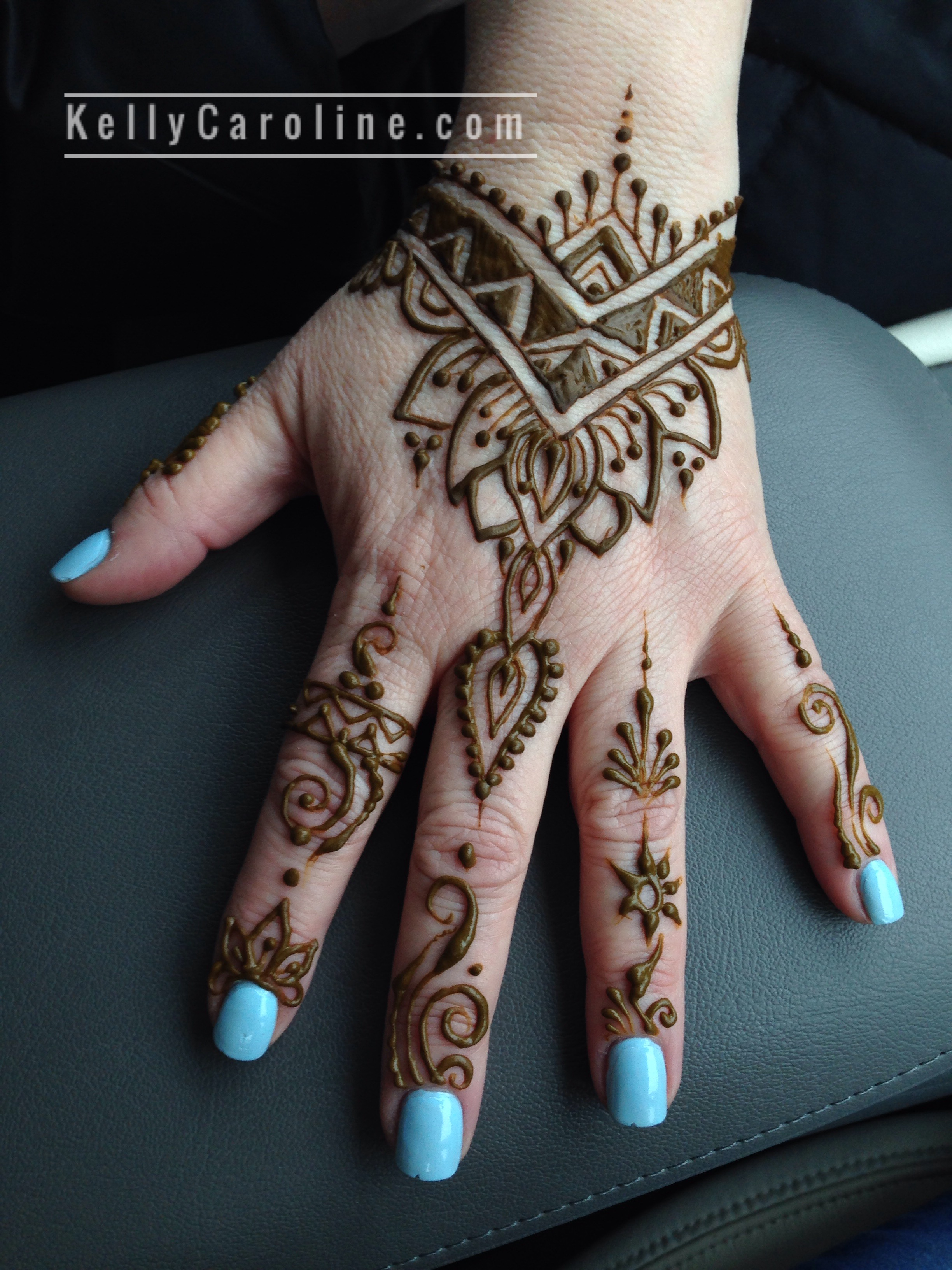 0dc2e4c81 Tribal and geometric henna tattoos are really popular this Spring like the  one we did here for the hand . This was at our henna studio in Ypsilanti,  ...