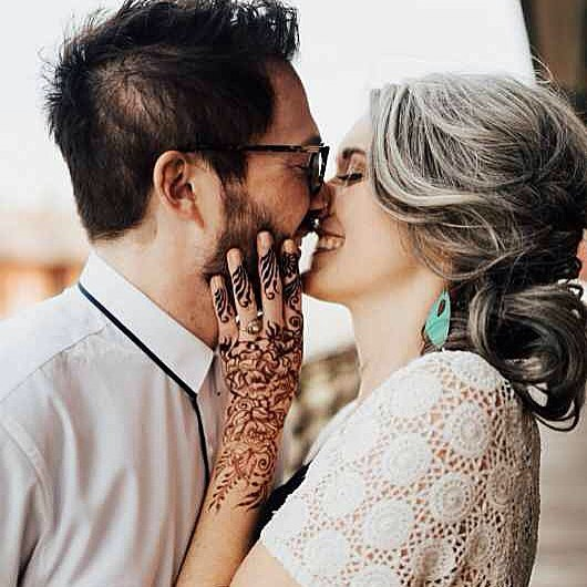 Another awesome capture from the boho wedding of these two love birds (who are getting married this month!) . . CHEERS TO @weddingdaymagazine for this LOVELY feature of our boho brunch photoshoot ! Thank you to everyone involved - this was a success because of your creativity & spirit ! LINK IN BIO  . #henna #hennas #ypsi #ypsilanti #detroit #michigan #michiganartist #kellycaroline #mehndi #mehndidesign #tattoo #tattoos #tattoodesigns #mandala #hennapro #flowers #ink #wedding #michiganwedding #artstagram #instartlovers #photoshoot #boho #hennastain #bohemian Venue: @ypsifreighthouse Jewelry: @courtneyfischerjewelry Wedding attire: @detroitbridalhouse Henna: @henna_by_kelly_caroline Styling & Decor : @birchaffair Models: @brittanyannmiller @drew_boro @shalisabird @jade_antoinettte @kevinsmigielski Hair: @unwindannarbor Makeup: @fudge.beauty Guest attire: @birch_elm Table linens: @rosemarinetextiles Ceramics: @make.do.studio Dessert: @goodcupcakesco Photography: @tanahelene Furniture : @jessica.co.vintage Textiles: @thegoodrug Glassware: @gigiandlaclede
