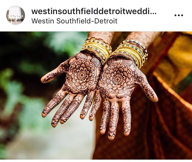 Thanks to @westinsouthfielddetroitwedding for featuring our henna and the GORGEOUS photography of @meandhimphoto of @taserswi wedding! Wonderful to be a part! . . . Kelly@kellycaroline.com #henna #hennas #hennaartist #kellycaroline #michigan #michiganartist #dearborn #southasianbride #southasianwedding #indianwedding #desi #weddinghenna #dearbornheights #mehndi #mehndidesign #canton #tattoos #ink #hennadesign #hennatattoo #hennatattoos #flowers #yoga #yogi #mandala #desiwedding @maharaniweddings #annarbor #annarbormichigan #mehndi
