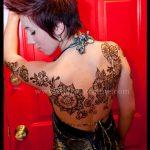 Henna, back henna, floral design, henna artist, henna artist michigan, floral body henna design