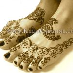 Natalia's henna foot design