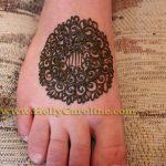 henna foot tattoo, mandala