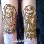 jack and sally henna tattoo