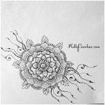kelly caroline henna art, henna artist michigan, henna tattoo design, tattoos, henna tattoo design with mandala