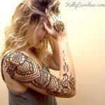tribal henna tattoo design